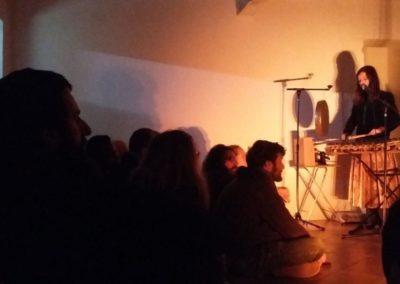 Concert de Léonore Boulanger, Jean-Daniel Botta et Laurent Sériès à la Maison Salvan, novembre 2016.