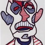 Autoportrait, Dubuffet, 1966.