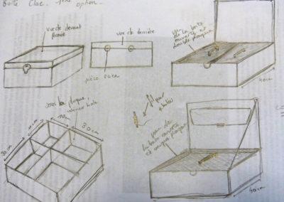 28 avril 2016 : envoi du plan à Agnès Dominique (Moulin à bois) pour la fabrication de la boîte à collecte.