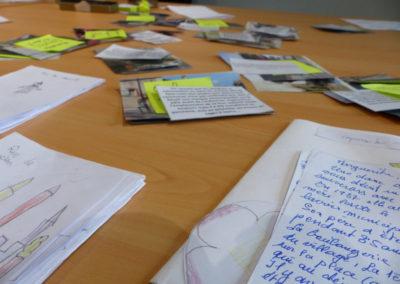 31 mai 2016 : Tri de la collecte en vue de la fabrication du carnet.