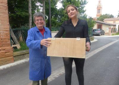 14 juin 2016 : récupération de la «boîte à collecte» !