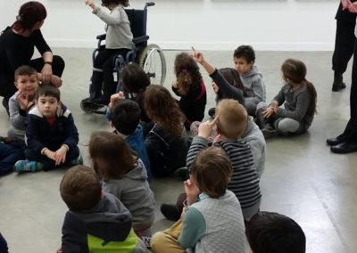 Visite-atelier avec les scolaires.