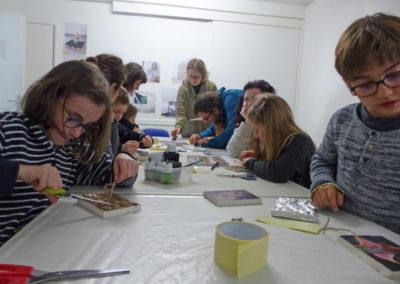 Atelier en lien avec l'exposition de Pierre Clement.