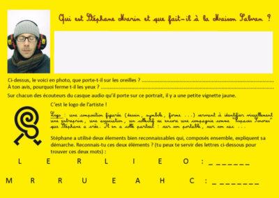 Page 2 du carnet d'écoutes associé à la balade sonore dans Labège.