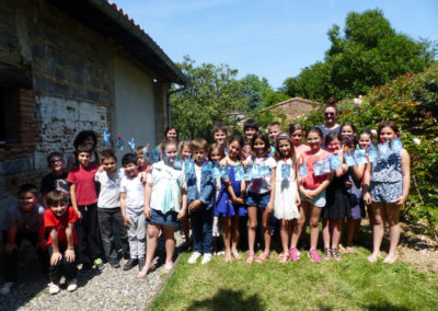 Visite-atelier avec une classe de l'école privée de Labège.