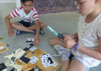 Visite-atelier avec le groupe d'enfants de l'ALAE.