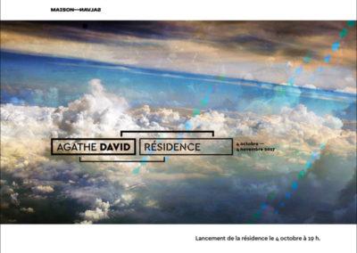 Flier de la résidence d'Agathe David. Conception graphique : Yann Febvre.