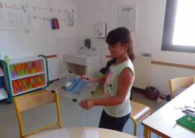 Visite-atelier du centre aéré La Caprice à la Maison Salvan.