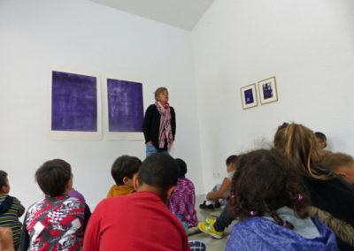 Visite contée aux enfants de La Caprice, par Céline Molinari au regard de l'univers d'Agathe David.