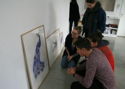 Rencontre entre Agathe David et les étudiants de MANAA de l'école ESMA d'Auzeville-Tolosane.
