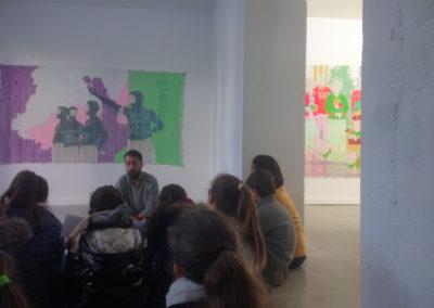 Rencontre entre Guillaume Rojouan et une classe de l'école élémentaire de Labège.