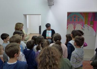 Rencontre entre Sophie Bacquié et une classe de l'école élémentaire de Labège.