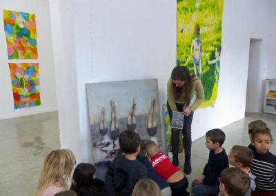 Rencontre entre Pauline Zenk et une classe de l'école élémentaire de Labège.