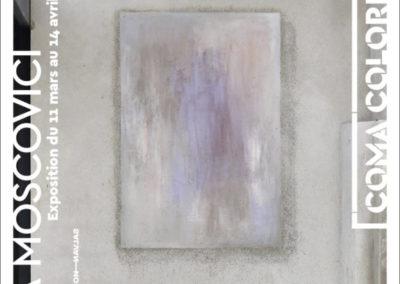Carton d'invitation de l'exposition « Coma Coloris Vif ». Conception graphique : Yann Febvre.