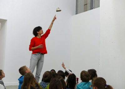 Rencontre Stéphanie Saadé et la classe de CP de l'école élémentaire de Labège.