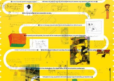 """Détail de l'objet éditorial réalisé par Yann Febvre dans le cadre du projet """"La Mémoire à réaction"""", projet EAC 2019."""