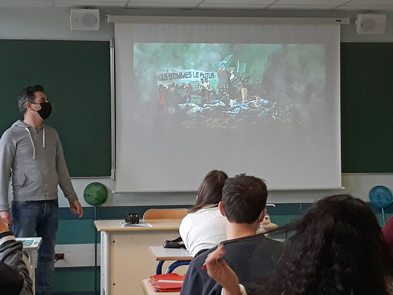 Parcours « Découverte des métiers de la culture, du patrimoine et des métiers d'art » pour des lycéens du LEGTA de Toulouse-Auzeville