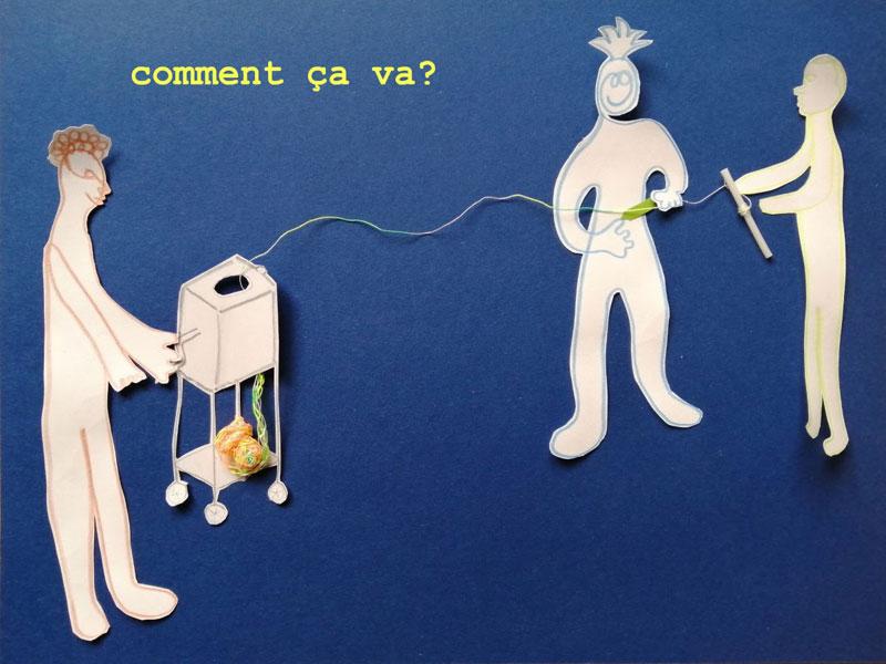 « Comment ça va ? », le Centre hospitalier Gérard Marchant, l'artiste Flore de Maillard et le designer Arnaud Daffos